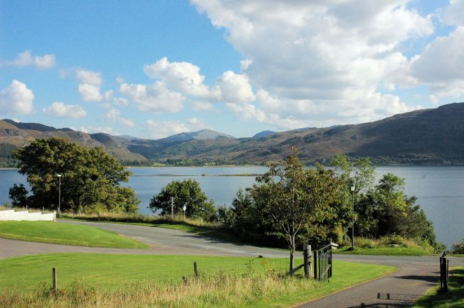 The 2 properties are adjacent to each other in Croft Road, Lochcarron, and both are in elevated positions with superb views south across Loch Carron towards Attadale.